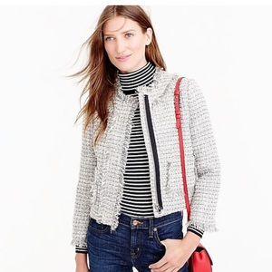J. Crew NWT Lady Jacket In Metallic Tweed Size 8